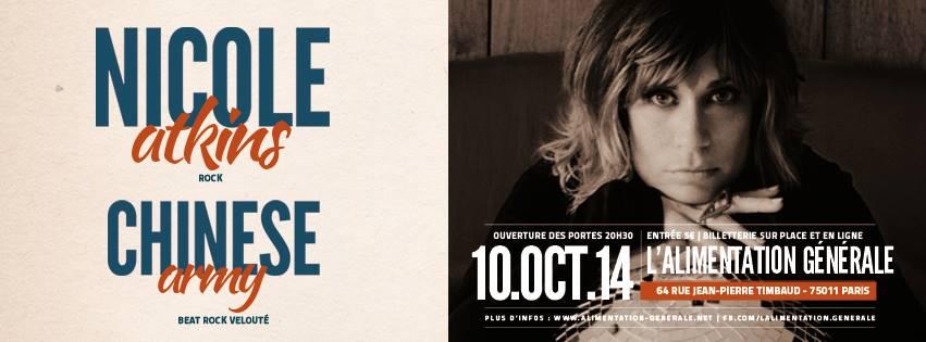 Nicole Atkins - Paris,               Alimentation Générale, 10 Octobre